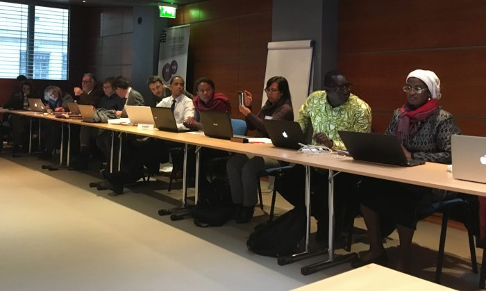 Réunion des 4 équipes projets dans les locaux de l'AUF à Paris, du 29 au 31 janvier 2017.